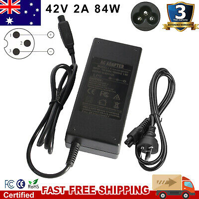 3 pin Au Charger Ac Adapter For Hoverboard Segway Electric Scooter 42V 2000A