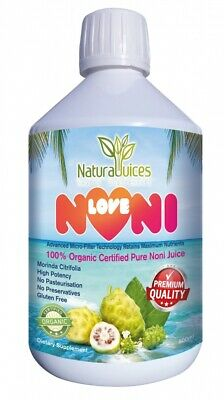 LoveNoni Organic Certified Pure Noni Juice 1 Litre(Pack of 2 x 500ml Bottles)
