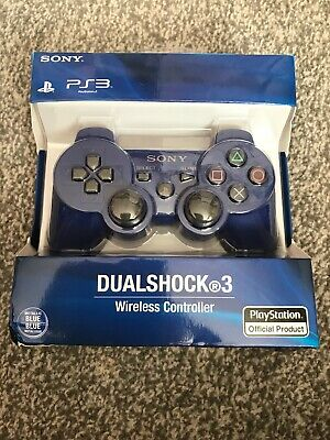 Sony PlayStation 3 Controller Wireless Dual Shock PS3 Game Pad Royal Blue New