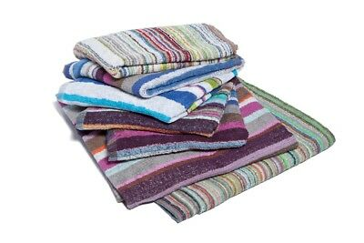 12 X Multi Stripe Hairdressing Towels / Salon / Beauty / Spa / Barber 50x85cm