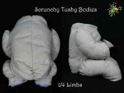 """Non - Fray """"doe Suede"""" Scrunchy Tushy Bodies Various Colours  **1/4 Limbs**"""