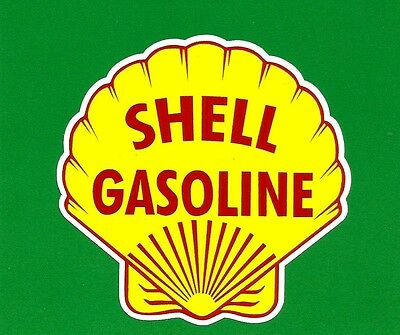 Shell Petrol / Oil Logo  Garage Gas Station Promo Sticker / Decal Unused
