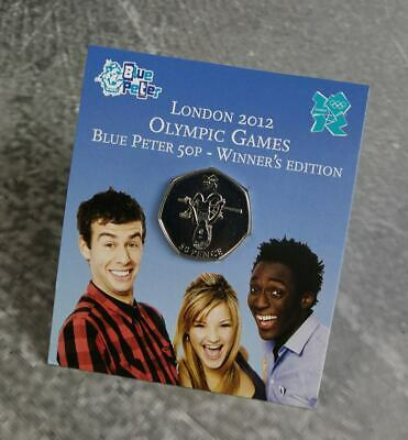 London 2012 Olympic 50p – 2009 Blue Peter Winners Edition Coin in display card