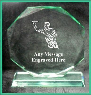Glass Darts 18Cm Octagon Award Trophy Ga1063 Engraved Personalised