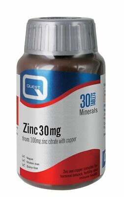 Quest Zinc Citrate 30MG 60 tablets