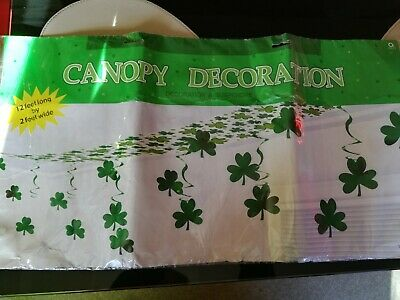 St patricks day Shamrock canopy 12ft Long x 2ft wide