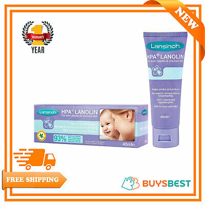 Lansinoh HPA Lanolin Cream For Sore Nipples & Cracked Skin 40ml - LN44302