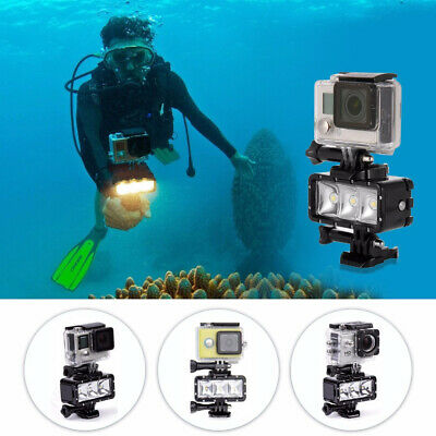 Waterproof LED Diving Light for Go pro Hero 5 3 4 h9 SJCAM SJ4000 Snorkel Light