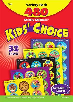 480 Scratch and Sniff Scented Reward Stickers - Kids Choice Variety Pack n' &