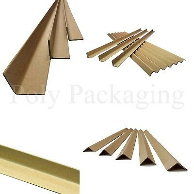 CARDBOARD PALLET EDGE PROTECTORS *ANY SIZE/QTY* Corner Guards Strips L-Shaped