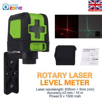360° Rotary Red Laser Self-Leveling Vertical Horizontal Level Cross 2 Line
