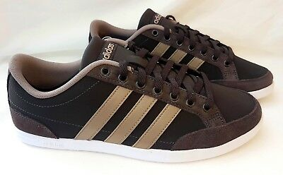 40be7cb9704 MEN'S SHOES GYM sneaker adidas neo caflaire nbk brown suede leather