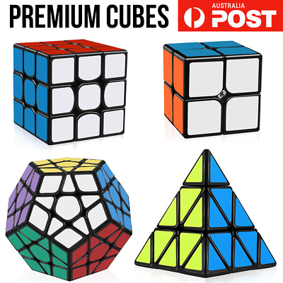 Premium Magic Cube 3x3x3 2x2 Super Smooth Fast Speed Rubik Puzzle Rubics Rubix