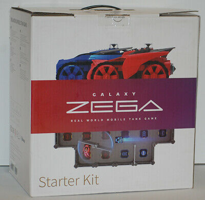 Galaxy Zega Battle Tank Game Starter Kit Real World Mobile With 2 Cars - New