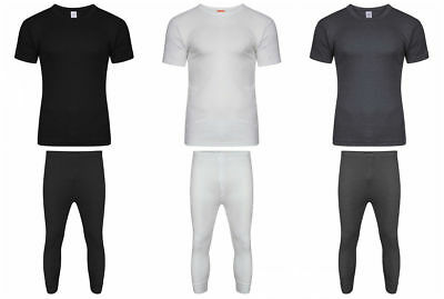 Mens Boys Thermal Underwear Long Johns Thermal T Shirt Top Vest Bottoms Trousers