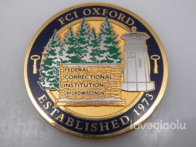DEPARTMENT OF JUSTICE Federal Bureau Of Prisons Fci Oxford Challenge Coin