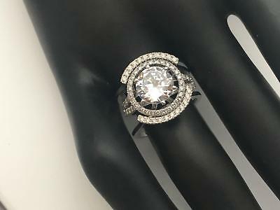 5.50 Ct E Si1 Round Halo Diamond Ring W Matching Bands 14 K White Gold Genuine
