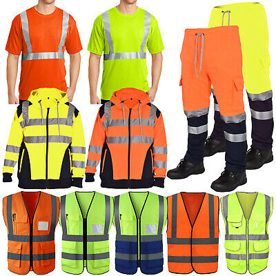 Hi Vis Safety Vest High Visibility Waistcoat With Pockets Yellow Orange