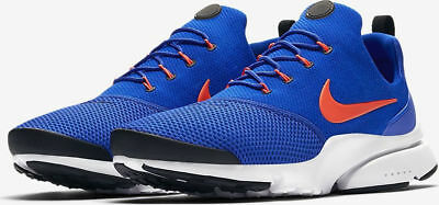 d4e8e30ee763 Mens Nike Presto Fly Racer Blue Crimson Mesh Running Gym Low-top Trainers