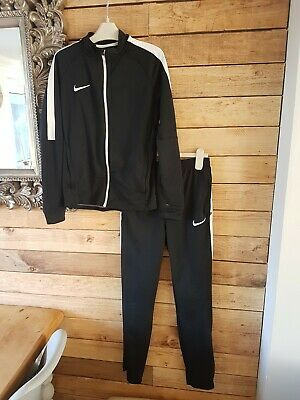 f52c3ff78e Boys nike air dry fit L black tracksuit hoody joggers Bundle Age 12-13 JD