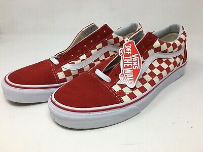 bf1871812969e7 VANS OLD SKOOL Chex Skate Shoe Men s US 11 Red White NEW -  89.99 ...