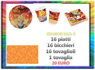 Party set #1 Coordinato tavola dragon ball festa compleanno party sweet table