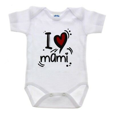 Body Manche coupe 0-3 mois ' I Love Mami ' - Couleurs - Blanc
