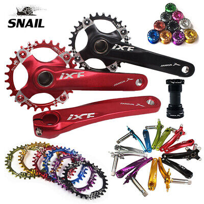 30T AM XC MTB Bike Crankset 170mm Crank BB 104bcd Narrow Wide Single Chainring