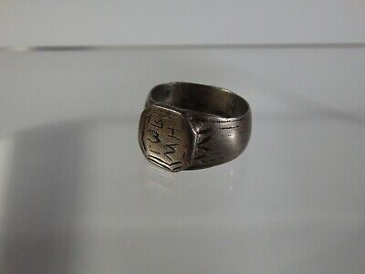 Antique Balkan Greek(?) Silver Ring-Personal Seal-17/18Th Century