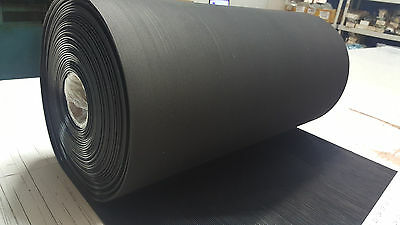 "Rib Rubber Matting Black Roll 24"" Wide X 5 Ft Long Free Shipping"