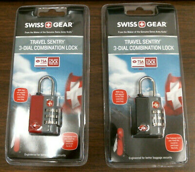 Swiss Gear TSA Approved Travel Sentry 3 Dial Combination Lock, Pick Your Color