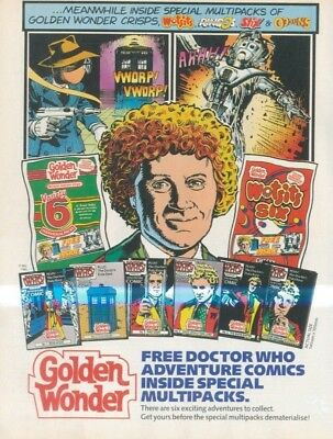 (Shbk10) Dr Doctor Who Golden Wonder Advert 11X8""