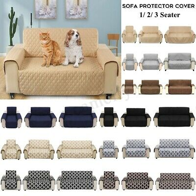 1/2/3 Seat Waterproof Pet Sofa Couch Cover Furniture Protector Mat Multi-Color !