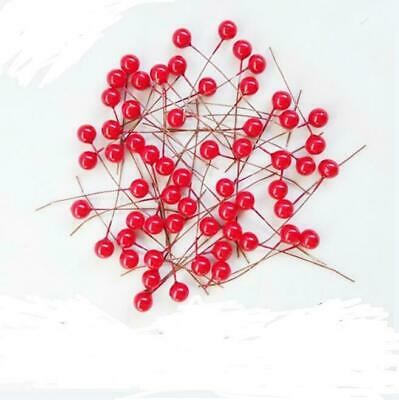Flowers Red Decoration Xmas Wall Hanging Door Holly Wreath Berry Gift 200pc