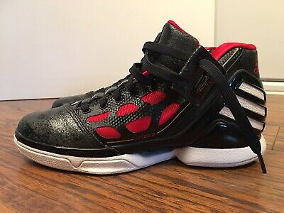 save off 30bc9 0ec19 ADIDAS Adizero Derrick Rose 2, G22887, Black  Red, Mens Basketball, Size