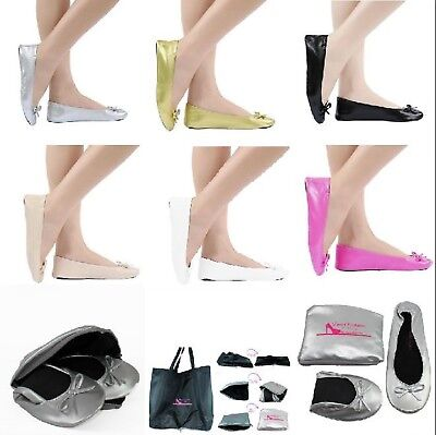 Foldable Flats women's shoes size 6 to 12.5 Expandable BAG ballet flat jiffies