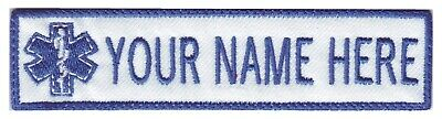 Paramedic Star of Life EMT/EMS Custom Embroidered Name / Text Tag Patch