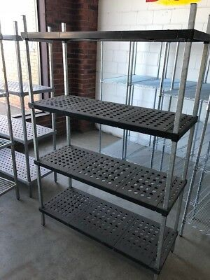 Cool Room Shelving Mantova 1200Lx450Dx1800h ABS Tuff Shelf 4 Tiers
