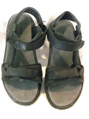 a52b7be0327c TEVA Smooth Black Leather Strappy Sport Sandals Women s US Shoe Size 8 EU  39 EUC