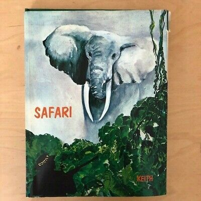SAFARI by Elmer Keith, Big Game Hunting in Africa, First Edition 1968, Signed