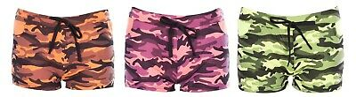 Girls Shorts Hot Pants Ladies Camo Floral Casual Dance Party Gym Beachwear