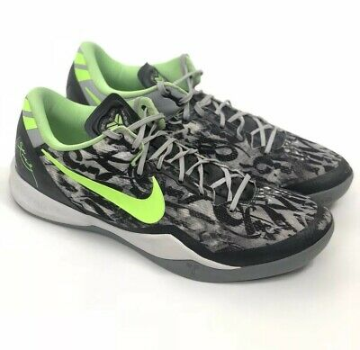 37148ee5d621 Nike Kobe 8 System Graffiti White Black Dark Grey Lime VIII (555035-100)