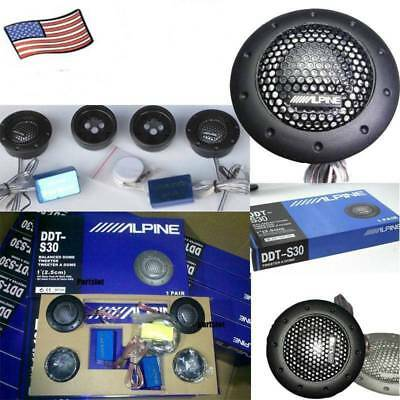 """ALPINE DDT-S30 25MM 1/"""" SOFT DOME BALANCED CAR TWEETERS 360W CROSSOVERS Systems"""