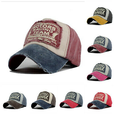 Vintage Baseball Cap Men Women Adjustable Denim Distressed Trucker Hat Unisex AU