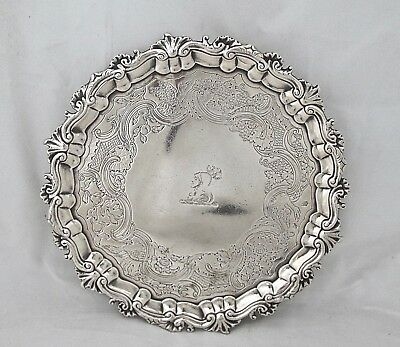 Wonderful quality Irish Georgian silver salver William Townsend Dublin c 1760