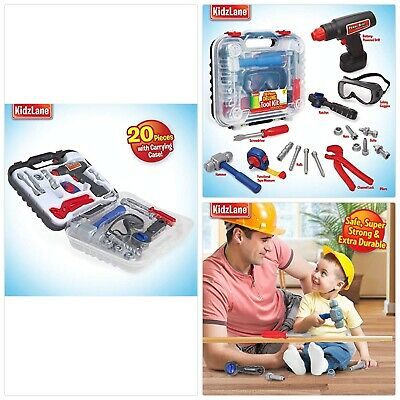 06c5f1e4ac98 Durable Kids Tool Set with Electronic Cordless Drill and 18 Pretend Play  Constru