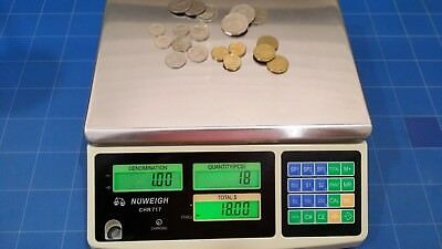 Nuweigh Coin Counting Scales Australian  5C 10C 20C 50C $1 & $2 Coins