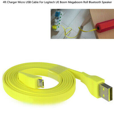 1.2M Micro USB Charger Cable For Logitech UE BOOM MEGA Bluetooth Speaker EW