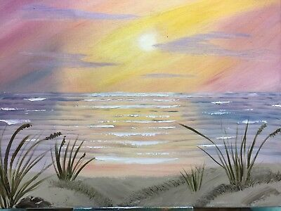 Bob Ross Style Oil Painting On Canvas