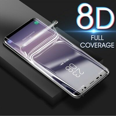 For Samsung Galaxy S9 S10 E Slim Soft Film Hydrogel Screen Protector Case Cover